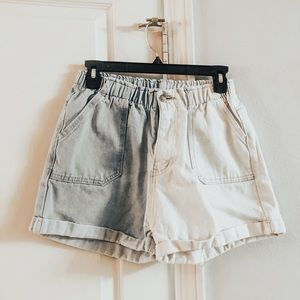 2 tone bleach shorts